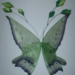 green butterfly custom wings