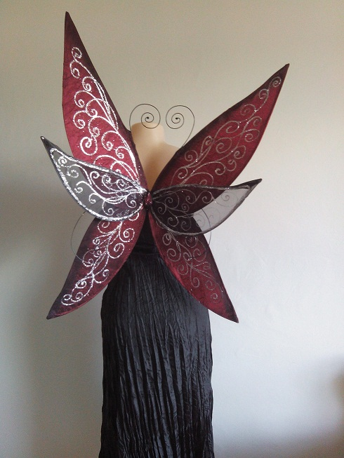 Large, adult size Rosetta Faerie Wings, available in any colour combination.