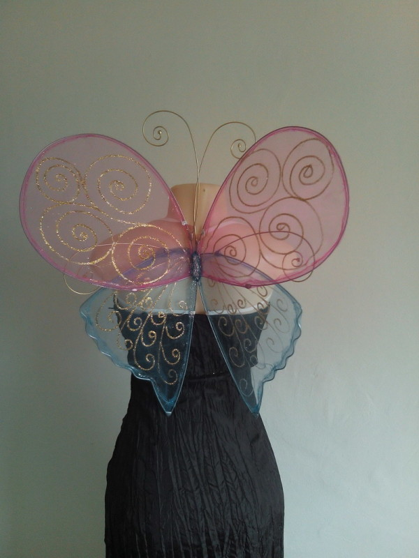 curly fantasy butterfly wings