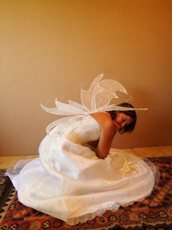 custom titania faerie wings win white