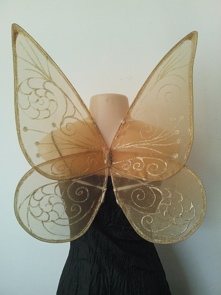 tinkerbell faerie wings in organza fabric
