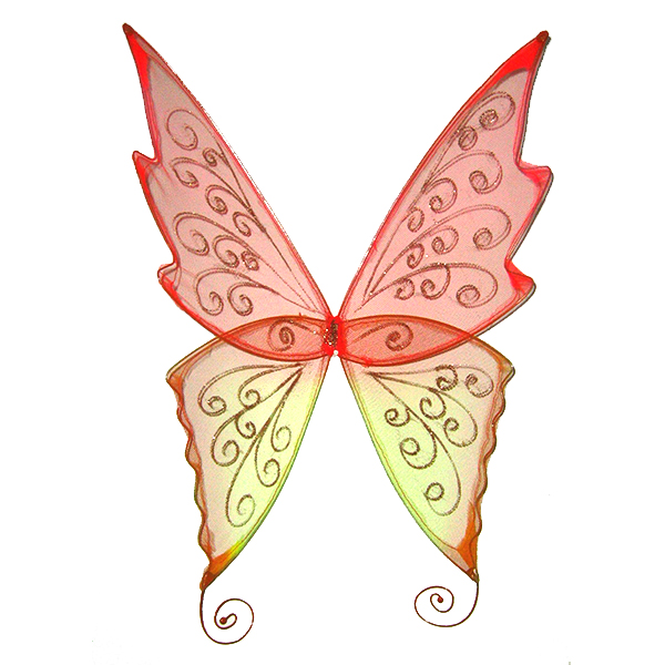 fire faerie wings in medium size