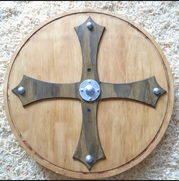 wooden viking shield for children