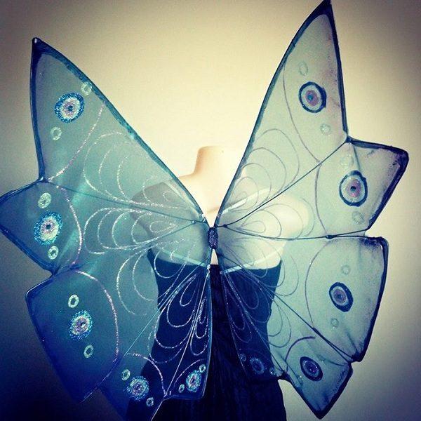 blue butterfly faerie wings
