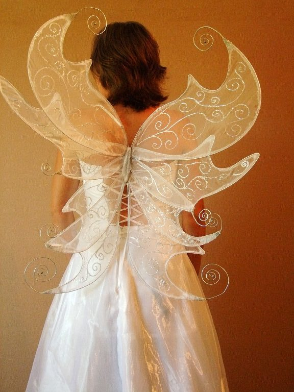 custom titania faerie wings in white