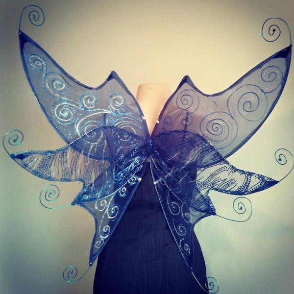 midnight blue faerie wings