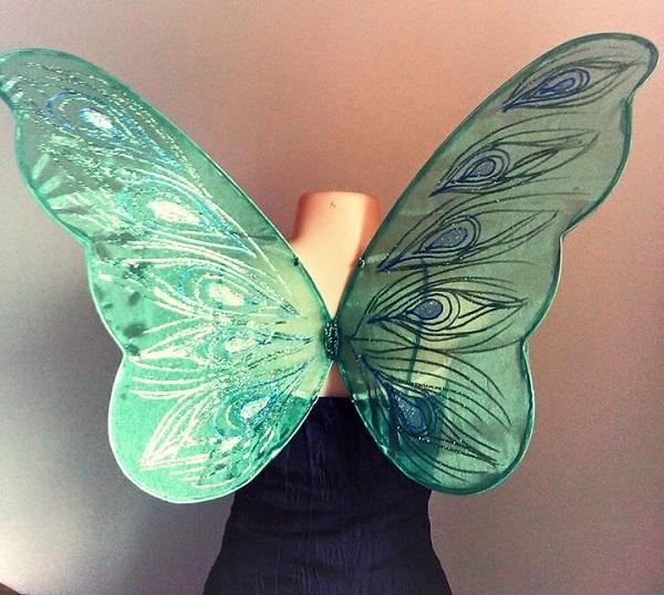 peacock faerie wings