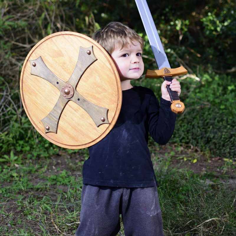 wooden sword and shield set