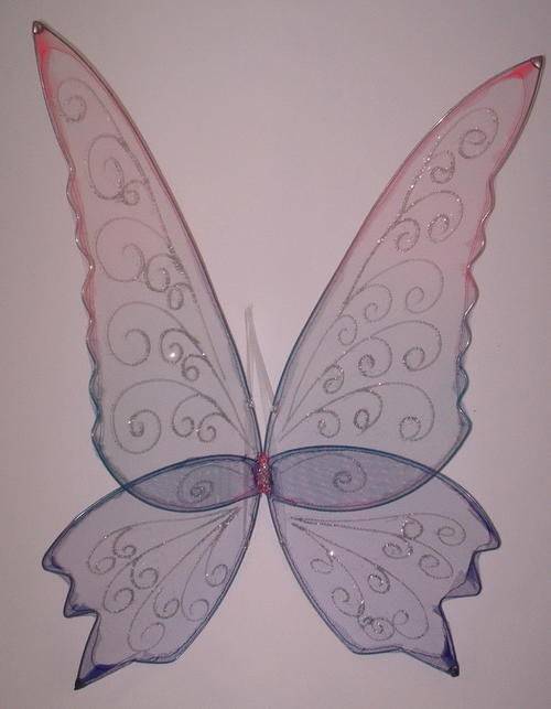 large multicolour faerie wings