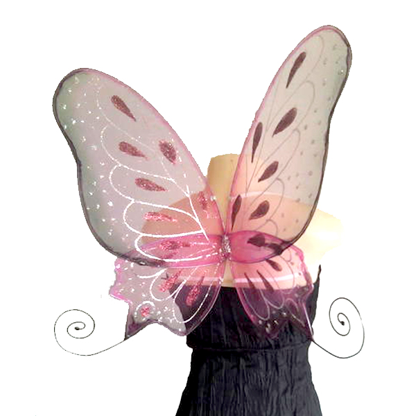 pink curly butterfly faerie wings