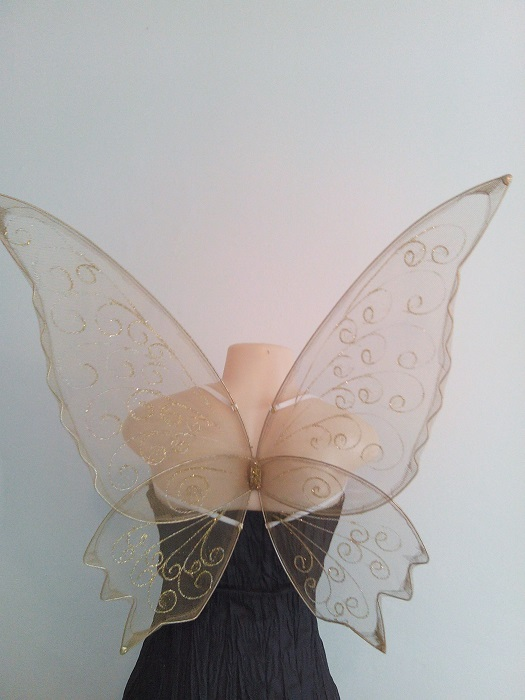 large gold faerie wings