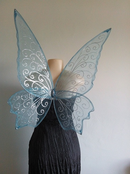 adult blue faerie wings