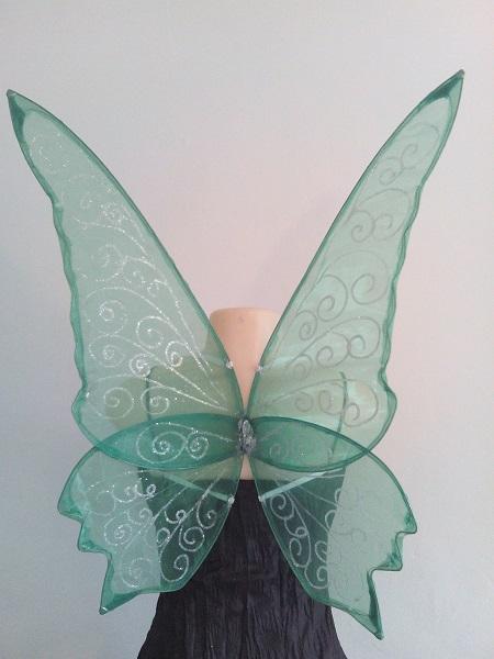 large dark green faerie wings