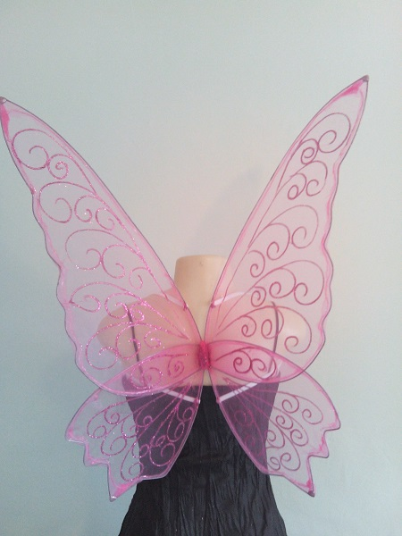 large pink faerie wings