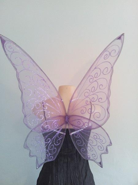 large purple faerie wings