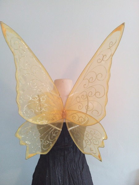 large yellow faerie wings