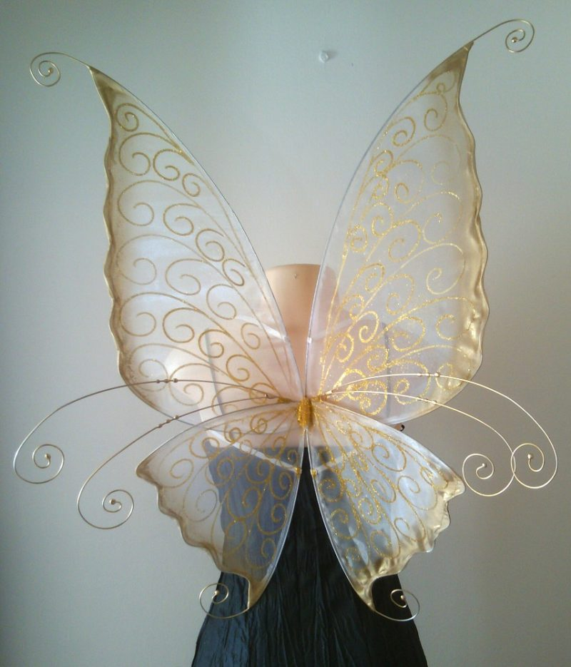 Adult Fairy wings in white and gold