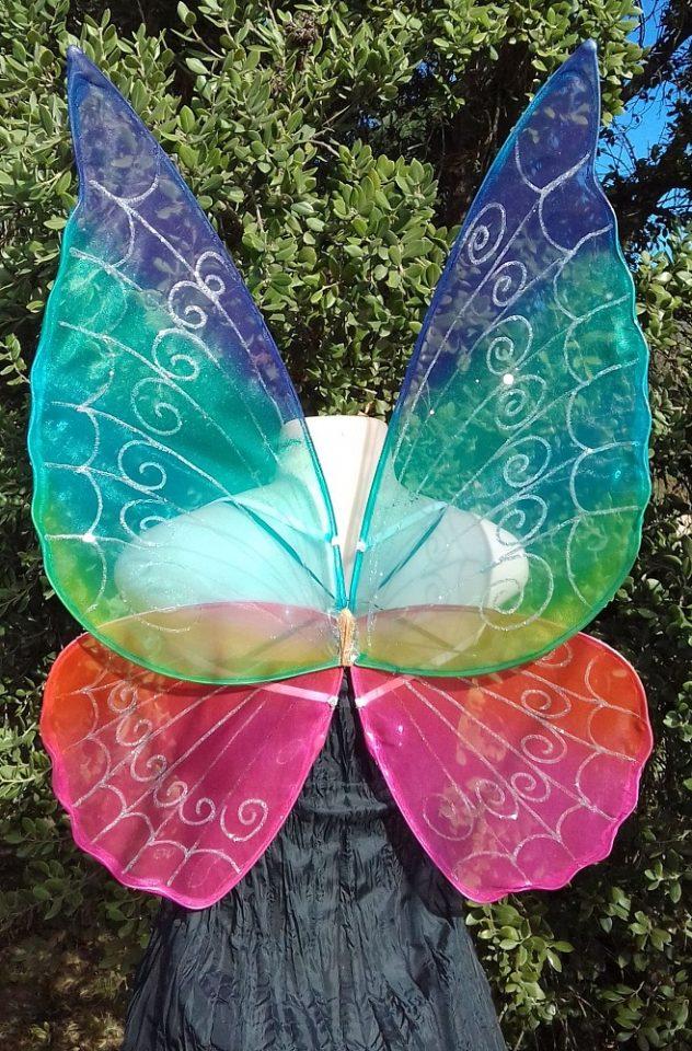 adult rainbow fairy wings