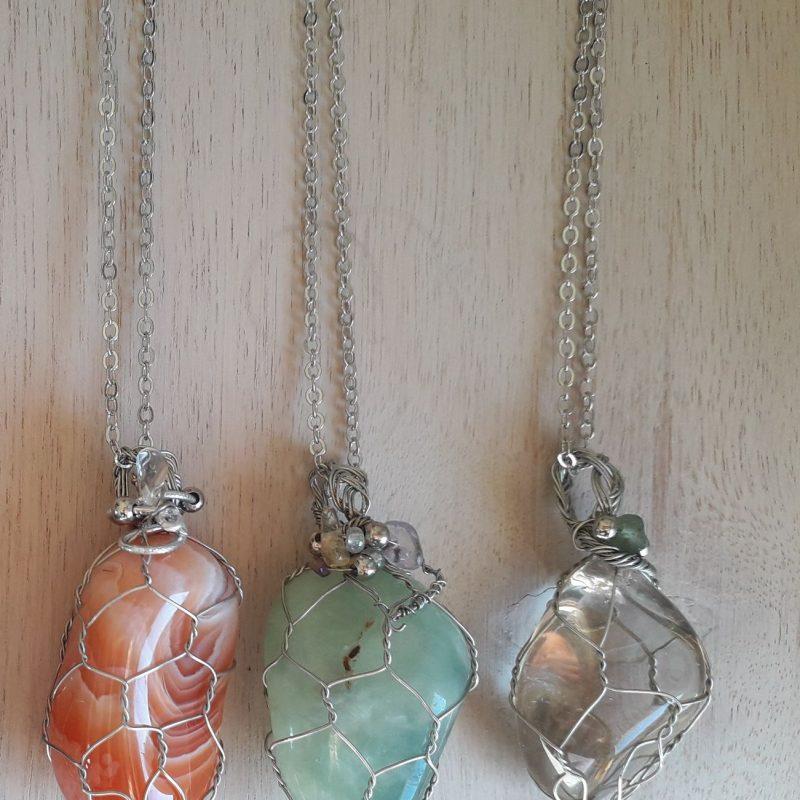 carnelian aventurine crystal pendant