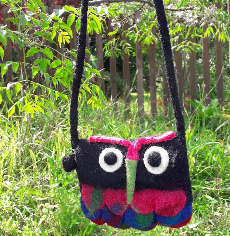 Black owl handbags for children