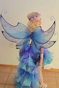 titania wings in turquoise and purple